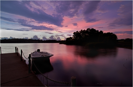 Exploding colors of the sunset sky | Marsh Creek, PA